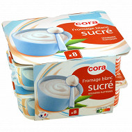 Cora fromage blanc sucré 2.5% MG 8 x 100g