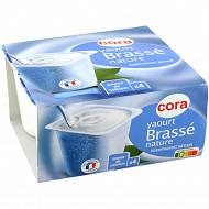 Cora yaourt brassé nature 4x125g
