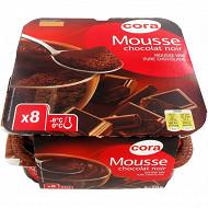 Cora dessert lacté mousse au chocolat noir 8x60g