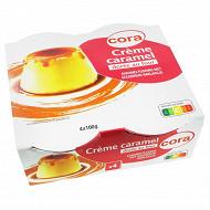 Cora crème caramel 4x100g