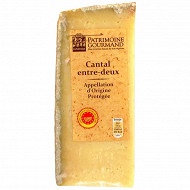 Patrimoine gourmand cantal entre deux AOP au lait pasteurisé 30%mg 250 g