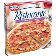 Dr Oetker pizza ristorante surgelée au salami et jambon spéciale 330g