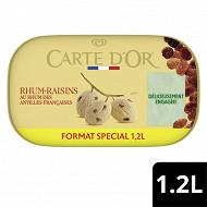 Carte d'Or bac crème glacée rhum raisins 1200ml - 675g