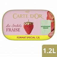 Carte d'Or bac sorbet fraise 1200ml - 780g