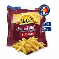 Mccain frites just au four classique 625g