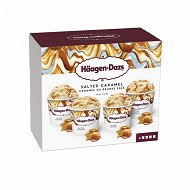 Haagen dazs mini pot salted caramel 4X95ML - 324g