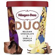 Haagen-dazs pot duo belgian choco et vanilla 8x420ml