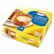 Cora 4 dômes vanille coeur de meringue 270g