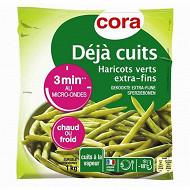 Cora haricots verts extra fins déjà cuits 1kg