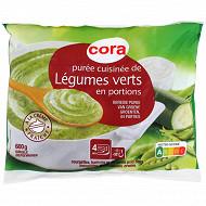 Cora purée cuisinée trio de légumes vert 600g