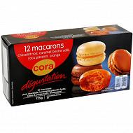 Cora dégustation assortiment de 12 macarons originaux 125g