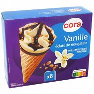 Cora 6 cônes vanille 720 ml - 411g