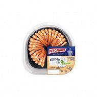 Queues de crevettes décortiquées cuites réfrigérées + sauce Tzatziki 130g