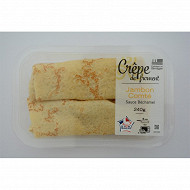 Crepe jambon fromage (2x120g) 240g