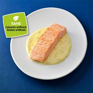 Pavé de saumon sauce beurre blanc citronné