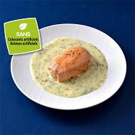 Paupiette de saumon sauce aux herbes