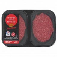 Cora dégustation steak haché charolais façon bouchère 12% mg 2x125g