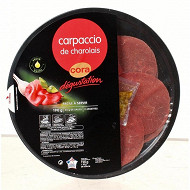 Carpaccio de boeuf charolais cora dégustation 190g + 30g de sauce