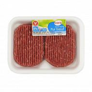 Cora steak haché pur boeuf 5% mg 2x125g