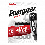 Energizer 4 piles Max AAA (lr03)