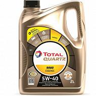 Huile total quartz 9000 5W-40  2L essence