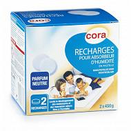 Cora 2 recharges d'absorbeur d'humidité - pastille 450 g