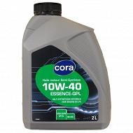 Cora huile moteur voiture semi-synthèse 10W40 essence 2l