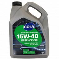 Cora huile moteur voiture multigrade essence  15W40 5 litres