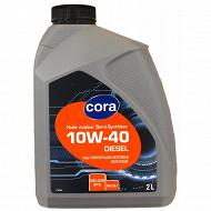 Cora huile moteur voiture semi synthèse 10W40 2 litres