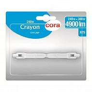 Cora ampoule crayon halogène R7S- 118 mm - 240 watts