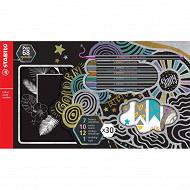 Coffret créatif 30 pièces stabilo pen 68 metallic
