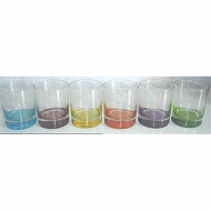 Lot de 6 gobelets bas colori'eau 30.5 cl
