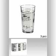 Lot de 3 verres whisky haut 25 cl