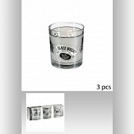 Lot de 3 verres whisky bas 22 cl