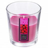 Bougie verre parfum framboise 90g