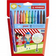 Stabilo - Pochette 12 feutres de coloriage power