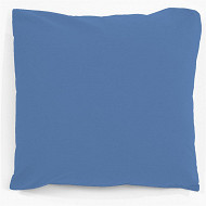 Taie d'oreiller 63x63 uni bleu polycoton