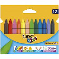 Bic plastidécor triangle étui carton de 12 crayons de couleur