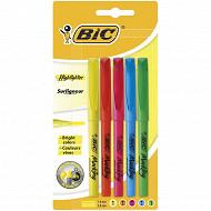 Bic 5 surligneurs brite liner bisau couleurs assorties