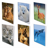 Cahier piqure 170x220 96 pages seyes 70g animaux sauvages