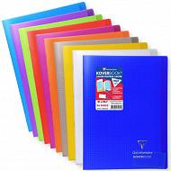 Clairefontaine cahier koverbook avec rabats petits carreaux 21x29,7cm 96 pages