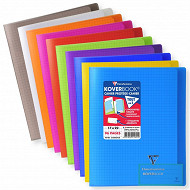 Clairefontaine kover book 17x22 cm 5x5 translucide assortis