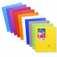 Clairefontaine cahier kbook 17x22 cm seyes 96 pages coloris assortis