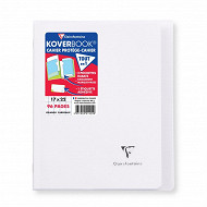 Clairefontaine kover book 17x22 cm  seyes  96 p translucide incolore