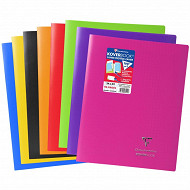 Clairefontaine cahier kbook 24x32 cm seyes opaque coloris assortis