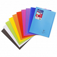 Clairefontaine cahier kover book 24x32 cm seyes translucide coloris assortis