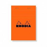 Rhodia bloc non perforé 10.5x14.8 cm 160 pages petits carreaux 80 grammes