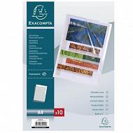 Exacompta - 10 pochettes coins 21x29.7 cm 110 microns exacompta