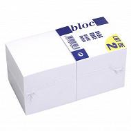 Lot de 2 blocs cube encolle papier blanc 70g 80x80x80