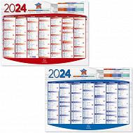 Exacompta calendrier grille recto verso 7 mois janvier à décembre 53x40.5 cm